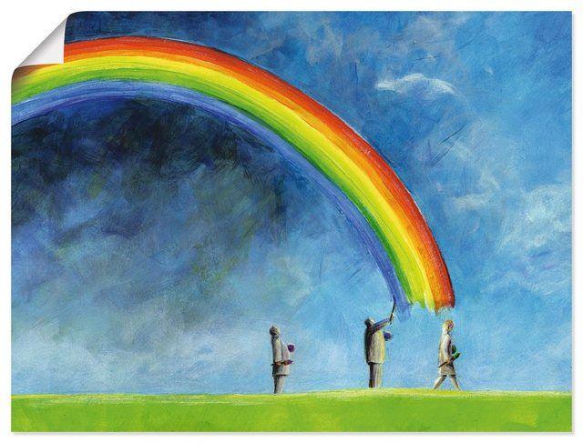 Kunstdruck Poster Ann Kathrin Busse Regenbogen Malen In 2020