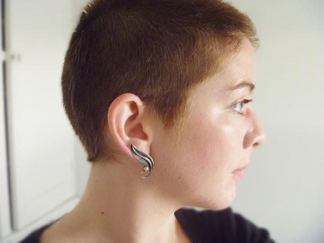 Buzzed girl hair shaved undercut