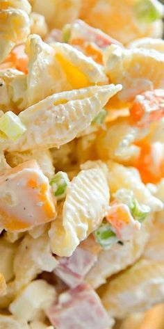 Ham, Egg, Cheese and Veggie Pasta Salad perfect for a summer cookout  side dish