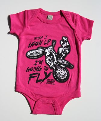 baby girl motocross - for when my sister has a baby!  @Jess Pearl Liu Pandol