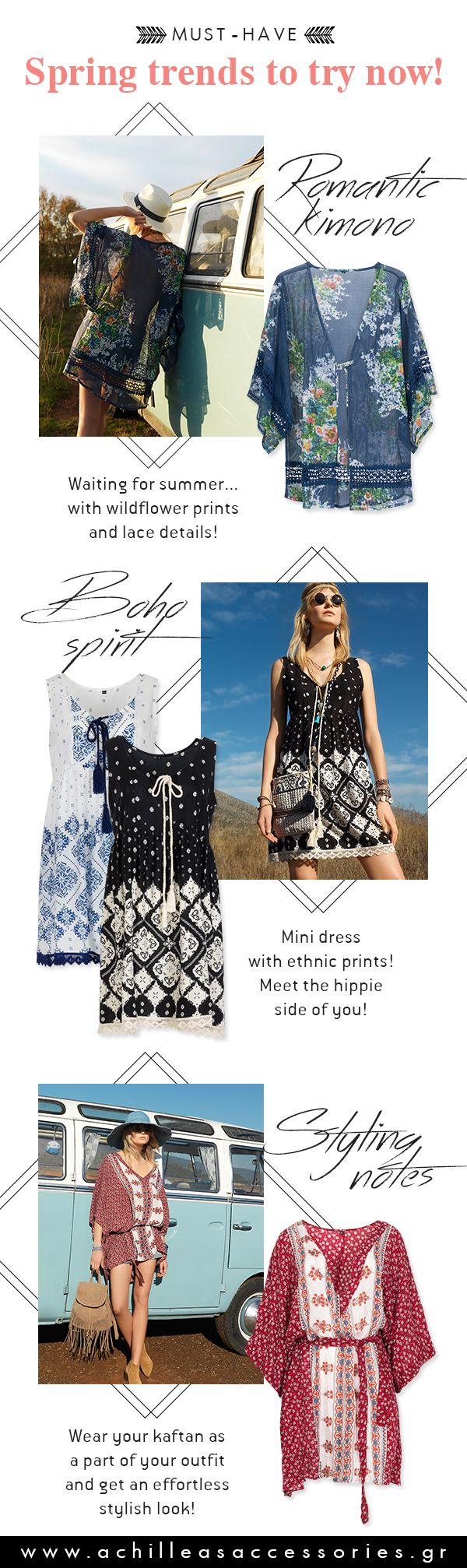 Spring trends to try now! #spring #summer #kaftans #tunic #dresses #maxidress #trend