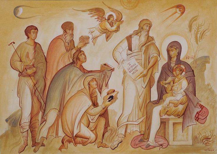 "George Kordis  THE VENERATION OF THE NEW BORN CHRIST. ""τί σοι προσενέγκωμεν Χριστέ..."" Αυγετεμπερα σε Ξυλο."