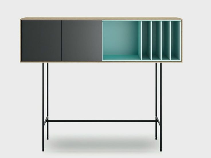 Lacquered wooden console table AURA S8-3 Aura Collection by TREKU | design Angel Martí, Enrique Delamo