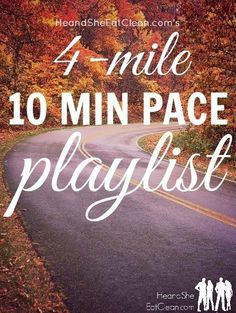 Run a 10-minute mile? Need a playlist? This playlist is optimized for runners who run a 10-minute mile, looking to run 4 miles. It includes a warm-up and cooldown song as well! Perfect for race training. Get the entire playlist at HeandSheEatClean.com #running #music #playlist #workout #training #marathon #halfmarathon #5k #10k #racemusic