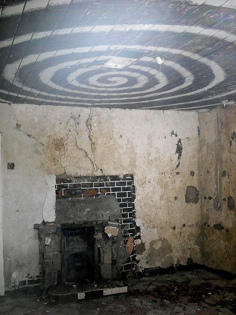 Strange Room in Abandoned House. Portal to the Twilight Zone....I know it.