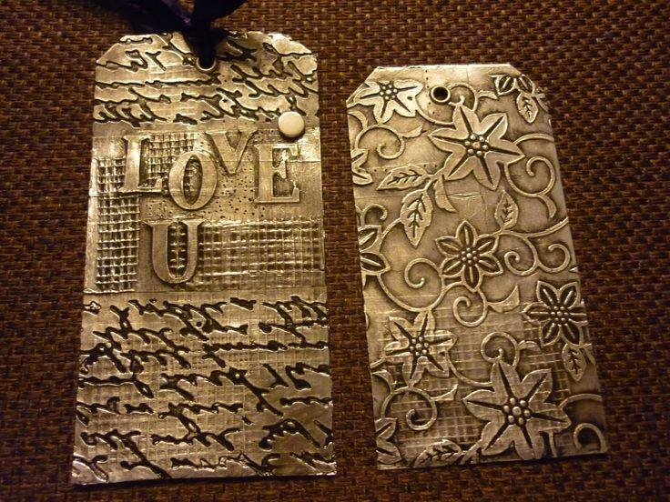 metal embossed tags More
