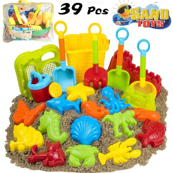 39pcs Beach Sand Toy Set In Bag Sand Molds & Water Summer Playset Fun Kids Toys