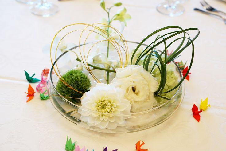 #tokugawaen#novarese#vressetrose#Wedding #japanese #table #Flower #guesttable#Bridal#徳川園# ブレスエットロゼ #ウエディング# 和風 #和装 # ゲストテーブル#トーション #テーブル # 花#テーブルコーディネート#ブライダル#結婚式#ナチュラル#ブレスエットロゼ名古屋#ダリア#白#グリーン#フローティングフラワー