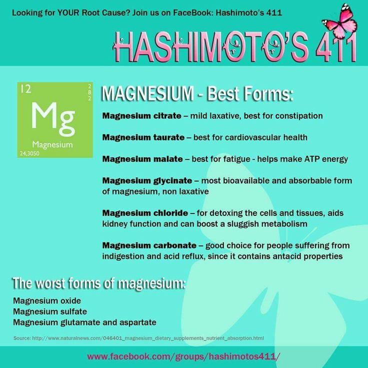 Best Natural Forms Of Magnesium