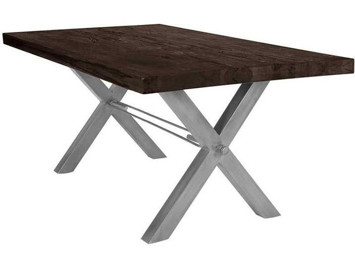Esszimmer Tisch In Eiche Dunkel Massiv Und Eisen Loft Design Table Dining Table Decor