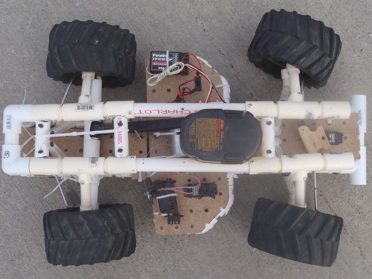 A DIY RC car. Scaled down, this is a perfect project for two little boys.