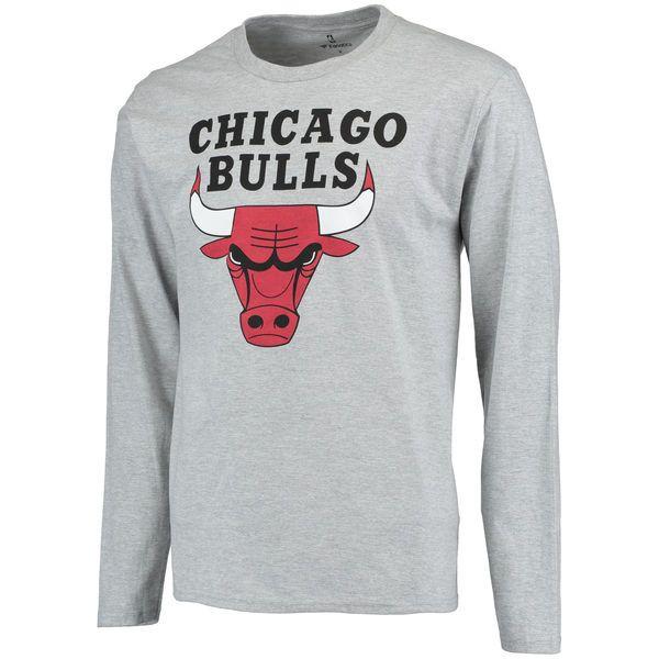 Chicago Bulls Team Essential Long Sleeve T-Shirt- Gray - $29.99