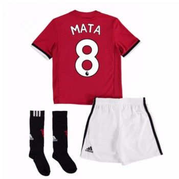 Manchester United Juan Mata 8 kläder Barn 17-18 Hemmatröja Kortärmad  #Billiga #fotbollströjor
