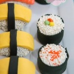 Japanese Sushi dessert buffet, sushi cake pops by @Cake Envy Melbourne