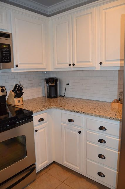 Another beautiful kitchen redo thanks to Rust-Oleum Cabinet Transformation Kit! Check out the great work done by @carolcabe to achieve this modern updated kitchen! http://www.rustoleum.com/product-catalog/consumer-brands/transformations/cabinet-transformations-light-kit/