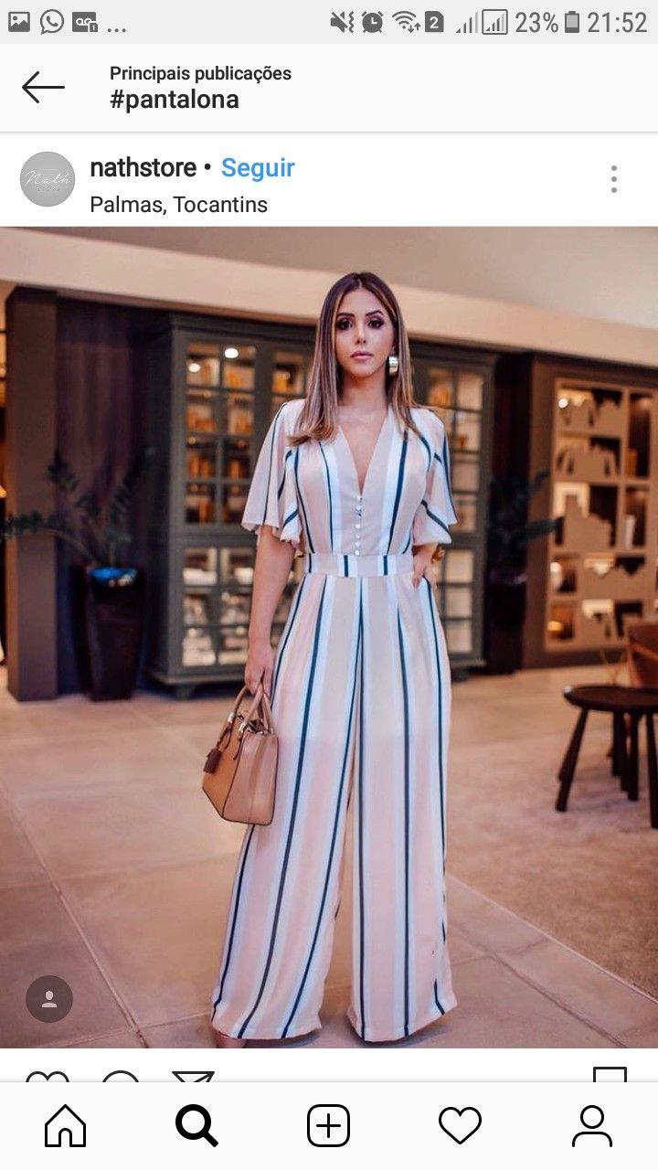 6adcc34d0 Pin de Jenny Maria em Falda pantalon em 2019 | Fashion dresses, Dresses e  Jumpsuit dress
