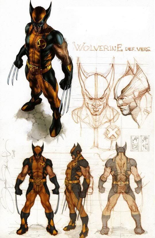 Astonishing X-Men Wolverine sketches by Simone Bianchi  #superheroe #poses #musculatura