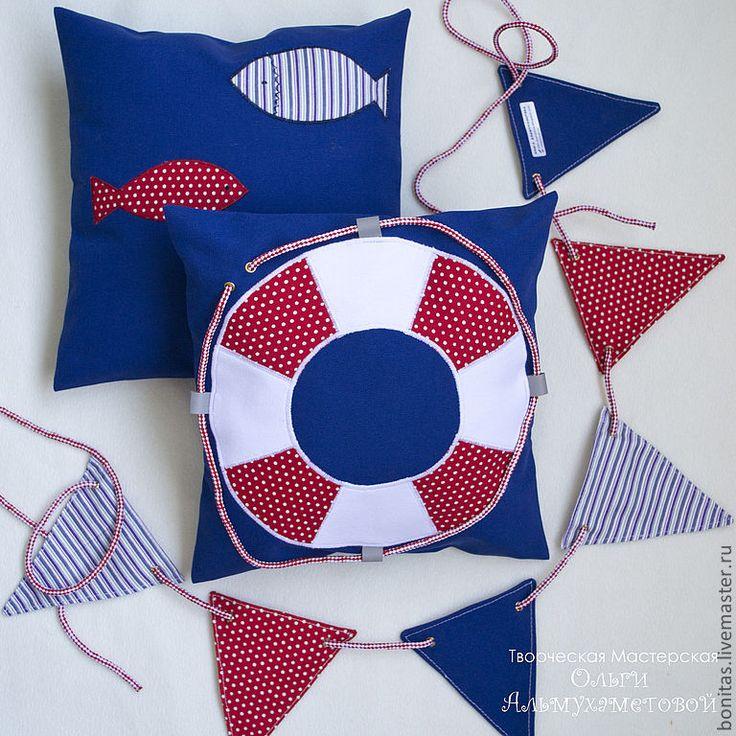 Морская подушка - Подушки, декоративные подушки, морской, морская тема, морская тематика, море