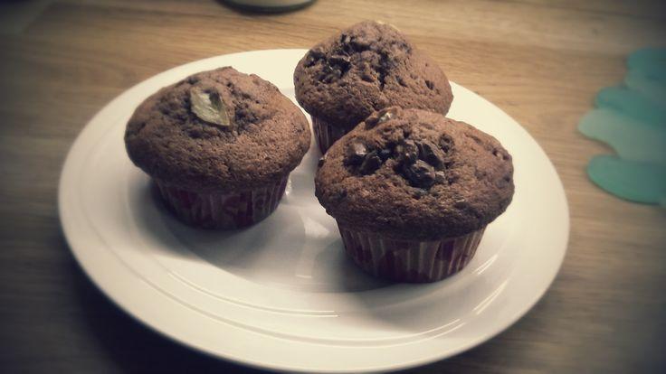 Čokoládovo-banánové muffiny ♥