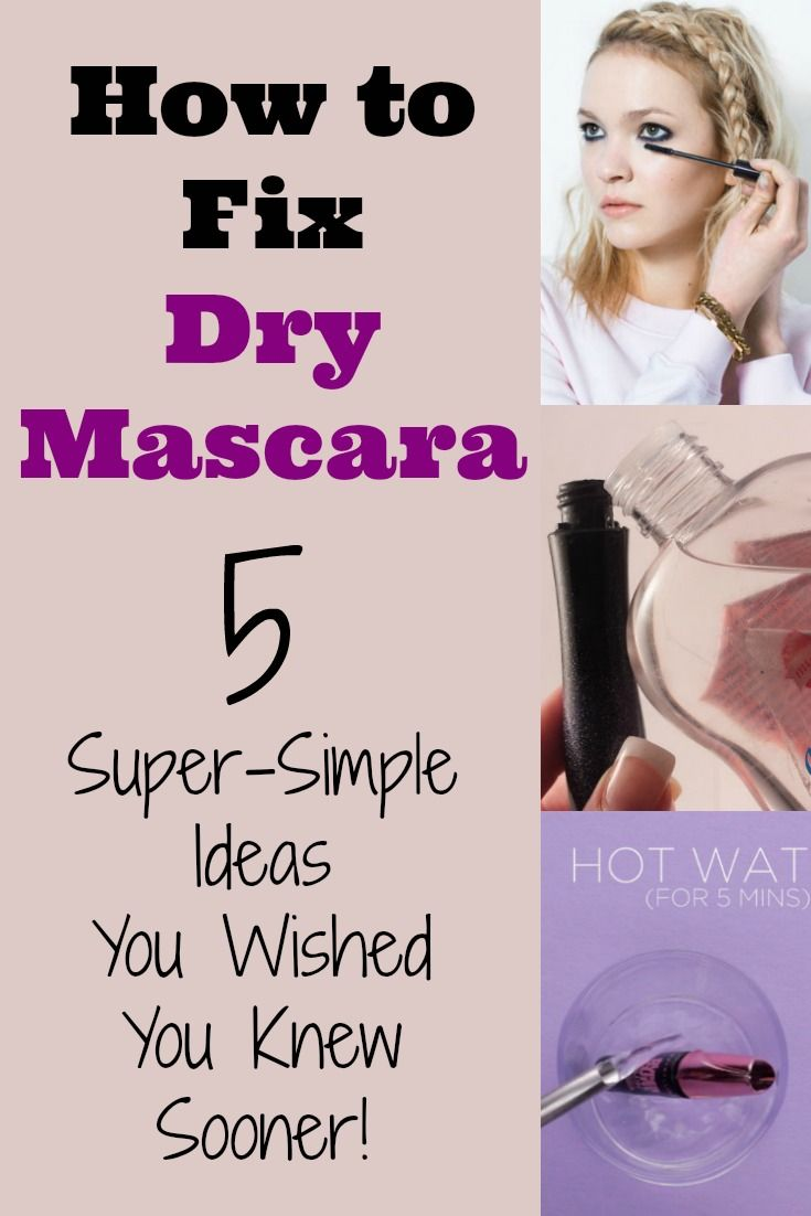 How to Fix Dry Mascara - You're not going to believe how simple is is to fix that dry mascara in your tube...