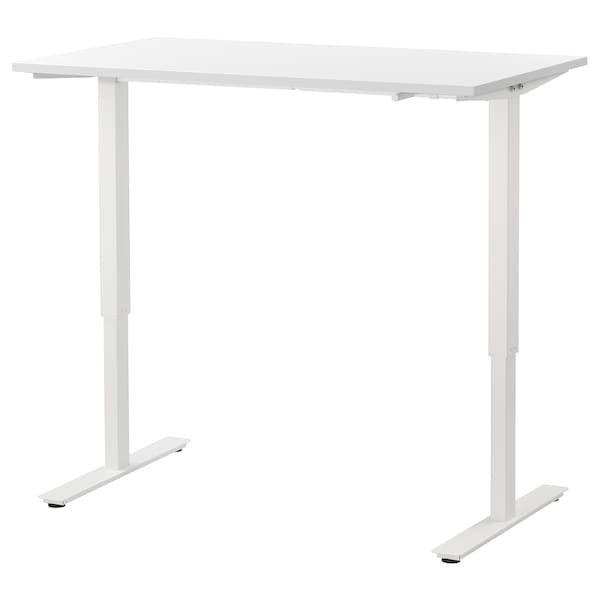 Skarsta Biurko Z Regulacja Wysokosci Bialy 120x70 Cm Sprawdz Szczegoly Produktu Ikea In 2020 Ikea Standing Desk Sit Stand Desk Best Standing Desk