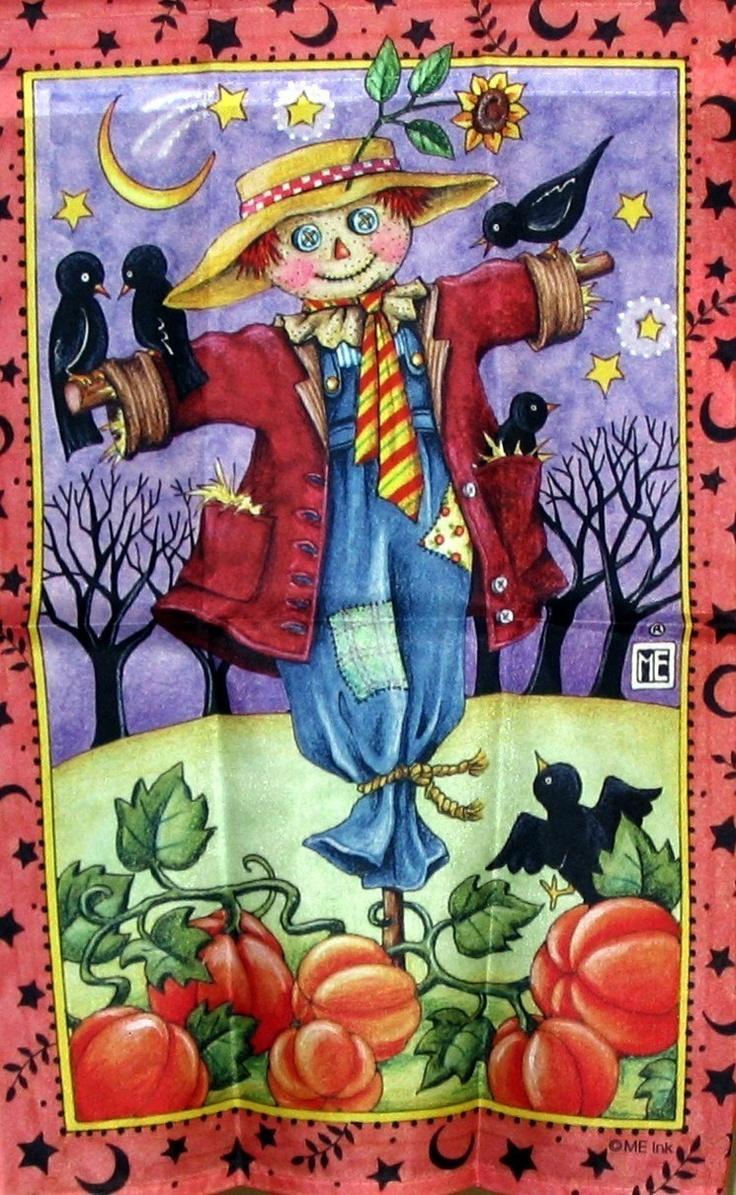 Mary Engelbreit | Mary Engelbreit Scarecrow Fall Mini Garden Flag   New    Decorative