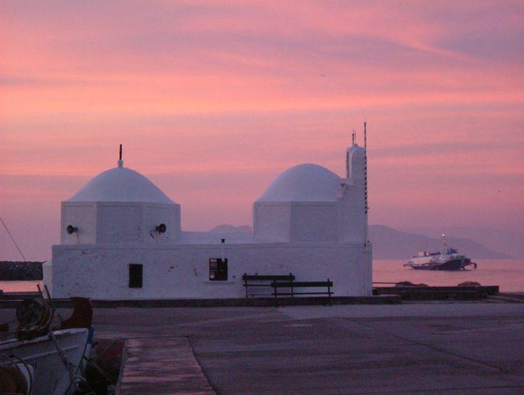 Aegina - Saint Nikolas in a rose morning by laxpix