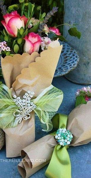 paper bouquets....