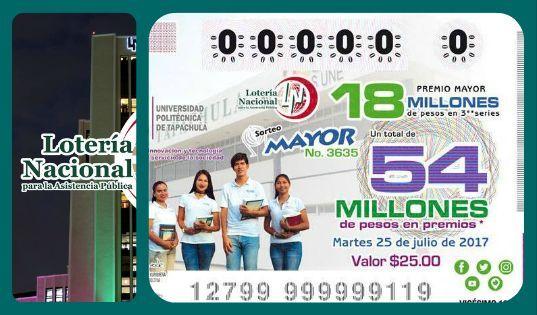 Sorteo Mayor 3635 del Martes 25 de Julio 2017