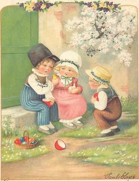 Pauli Ebner (1873-1949)  —   Old Easter Post Cards (484x629)