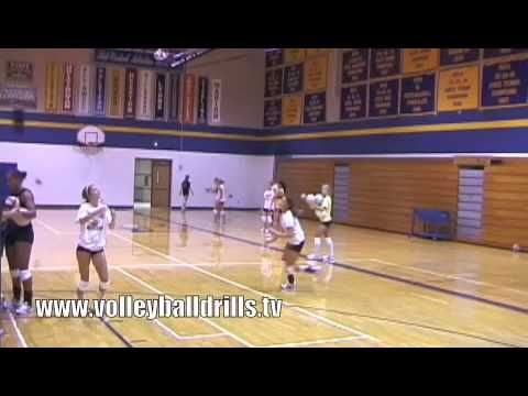 """Big M"" Volleyball Drill - YouTube"