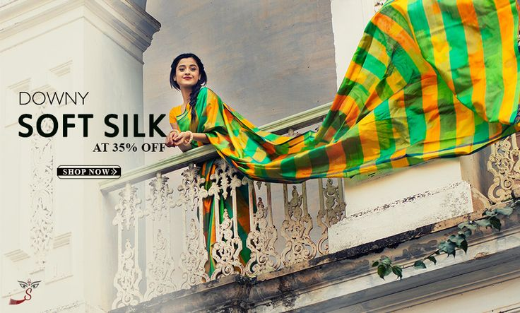 ARRIVED: #Softsilksarees from #SouthIndia at 35% #Discount!