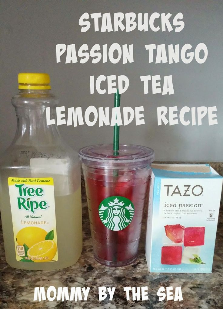 Mommy by the Sea: Make Your Own Starbucks Passion Tango Iced Tea Lemonade!