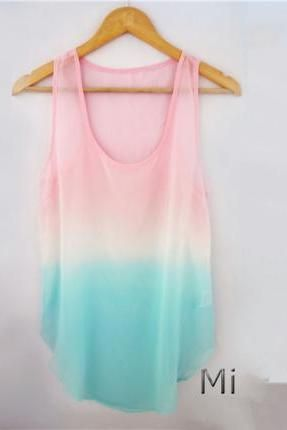 Tie Dye Tank Top For Summer