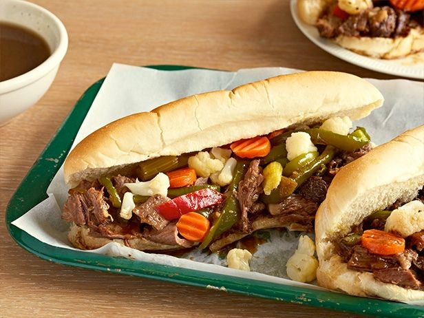Chicago Italian Beef (Pot Roast Style) Recipe : Jeff Mauro : Food Network - FoodNetwork.com- giairdinara recipe