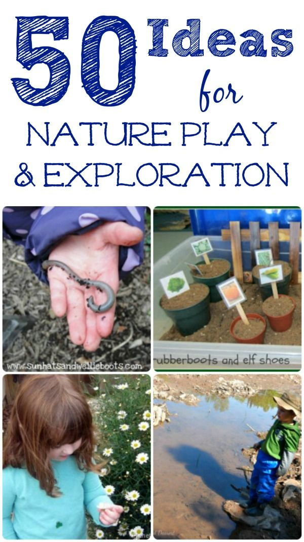 Great Nature Activities for kids!  Outdoor play ideas, nature crafts, STEM and gardening -- how will your kids explore this year?