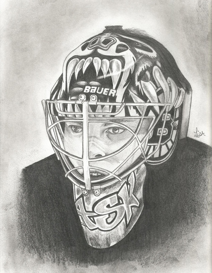 a pencil drawing of tuukka rask goalie for the boston bruins by lisam boston baby. Black Bedroom Furniture Sets. Home Design Ideas