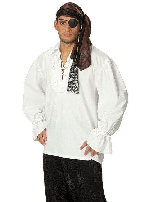 Piratenhemd für Herren weiss, aus unserer Kategorie Piratenkostüme. Ein schickes Hemd in Weiß für schneidige Freibeuter. Mit so einem glorreichen Outfit wird die Plünderei zum vollen Erfolg. Ein geniales Accessoire für Karneval und Piraten Mottopartys.