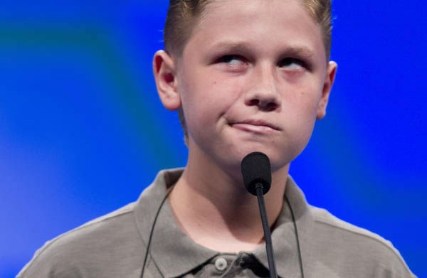 National Spelling Bee 2012 - Contestants' Reactions To Hard Words    Nathan Dugan, of Canton, Ohio