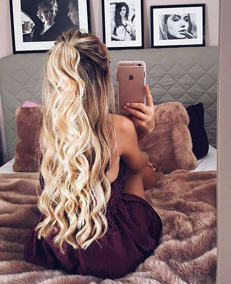 29 Long Curly Prom Hairstyles - # Hairstyles #Long #Curly #Ponytails #Prom, #Hairstyles # ...