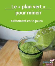 """Le """"plan vert"""" pour mincir sainement en 15 jours Vous avez envie de perdre du poids de manière saine, sans faire trop de sacrifices, et sans souffrir de la faim tout en nourrissant correctement votre organisme ?"""