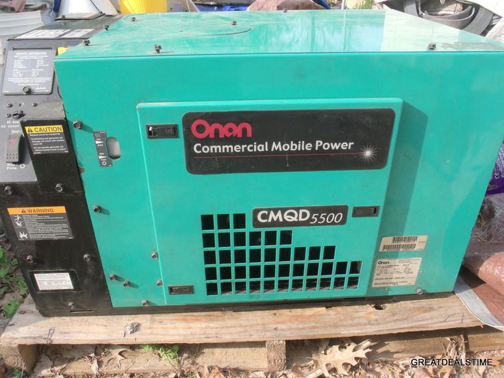 Cummins Onan Commercial 5500 Watt RV Generator 5.5 kW Diesel Powered #Onan