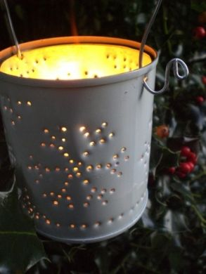 How to Make a Tin Can Lantern for Christmas, Halloween or Wedding