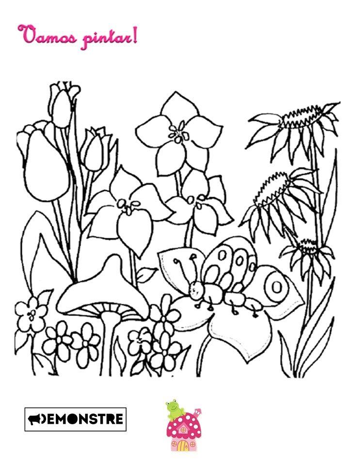 Desenhos Para Imprimir E Colorir Do Jardim Encantado With Images