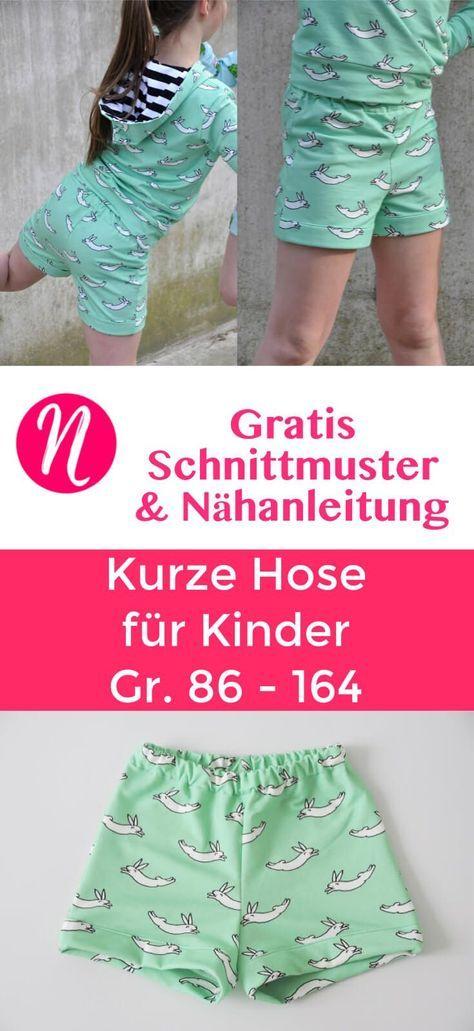 Kurze Hose für Kinder - Freebook | nähen | Pinterest | Sewing ...