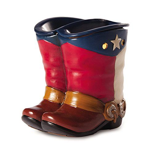 Texas Cowboy Boots Electric Candle Warmer- Scented and Flameless Wax Diffusers Replace Dangerous Candles for your Aroma Therapy - Your Gift Ideas Are Just A Step Away *CLEARANCE ITEM