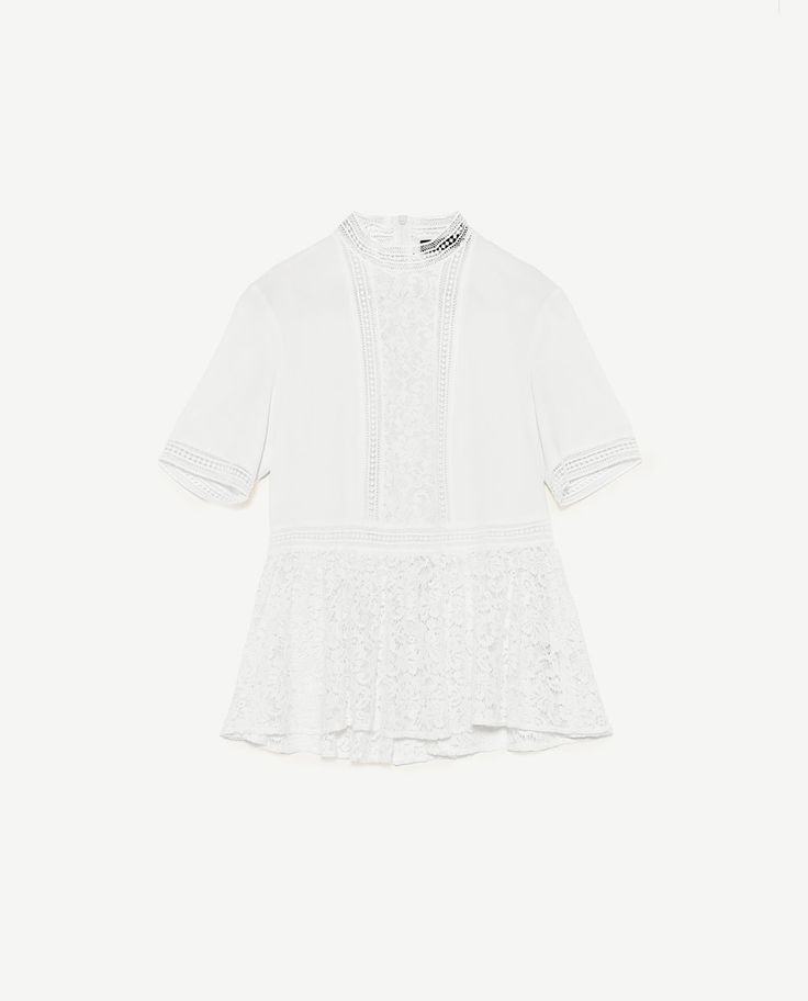 Image 8 of CONTRAST LACE TOP from Zara