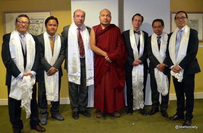 https://flic.kr/p/UUV2Xe | 11-HH Karmapa Tibet Society -010 | Tibet Society Council Members with His Holiness the Gyalwang Karmapa prior to @TibetSociety event at the Royal Asiatic Society, London. (L to R) Thupten Dompo, Pempa Lobsang, Rt Hon Norman Baker, HH the Gyalwang Karmapa, Riki Hyde-Chambers OBE, Tsering Tashi, Karma Chura-Tsang. @karmapa @tibetsociety
