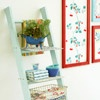 Ladder Shelf. I need to use our old ladder for this. Maybe my husband will be getting a new ladder for Christmas so I can make this!