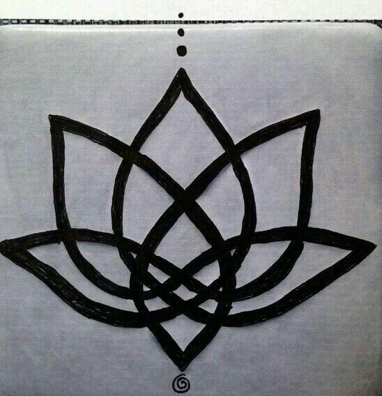 Celtic knot lotus